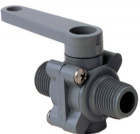 "Ball Valve 2x 1/2"" M Threads Buna PVC"